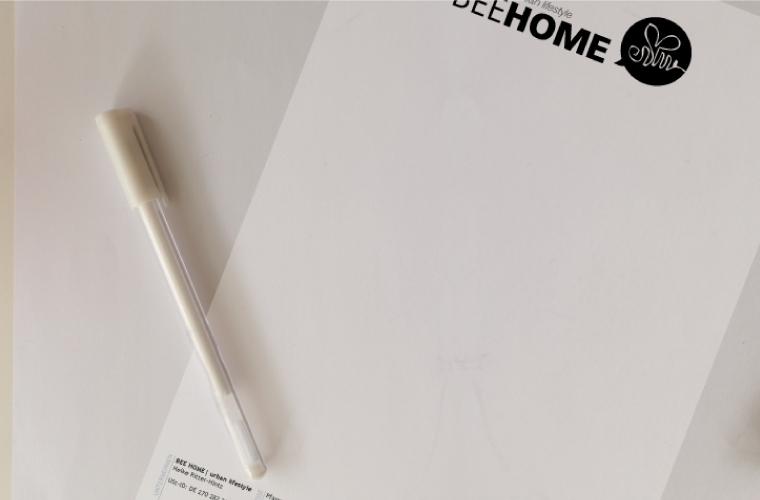 angereichertes Briefpapier auch als Wordvorlage