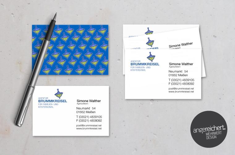 Visitenkarten Für familienagentur