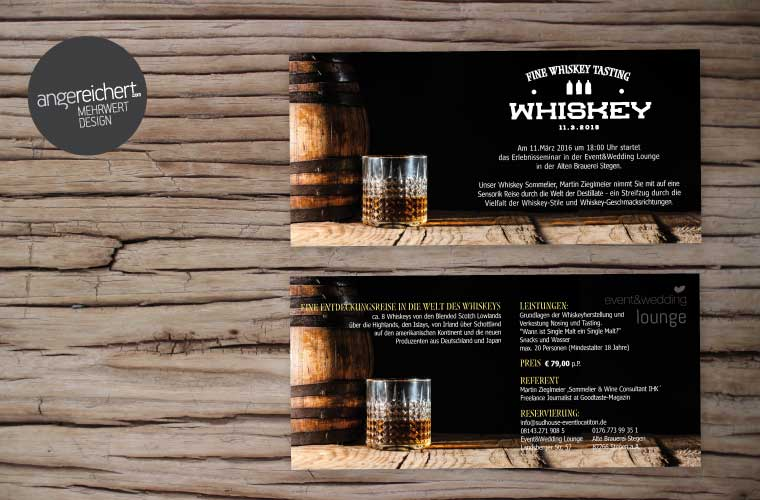 Whiskey Tasting Flyer Design