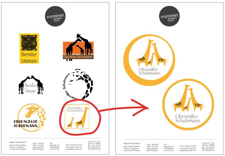 Logoentwicklung des Giraffenlogos